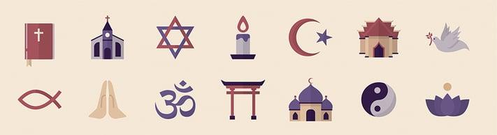 multiple religions logo